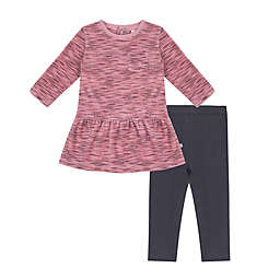 Petit Lem® 2-Piece Velour Dress and Legging Set in Pink