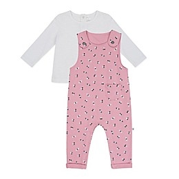 Petit Lem® 2-Piece Long Sleeve Top and Overall Set in Pink