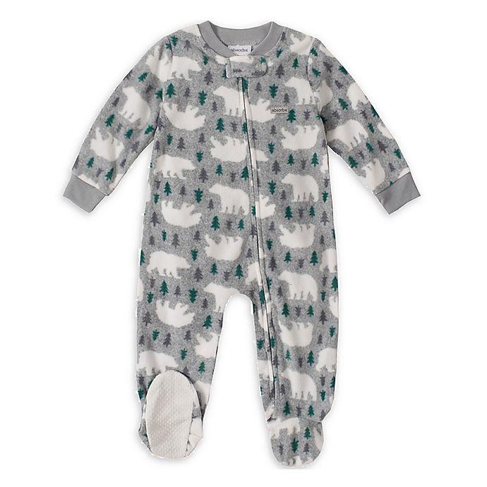 Alternate image 1 for Absorba® Polar Bear Footed Pajamas in Grey
