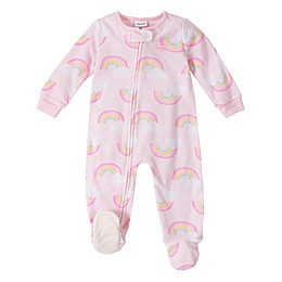 Absorba® Rainbows Footed Pajamas in Pink