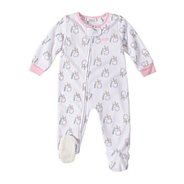Absorba® Unicorn Footed Pajamas in White