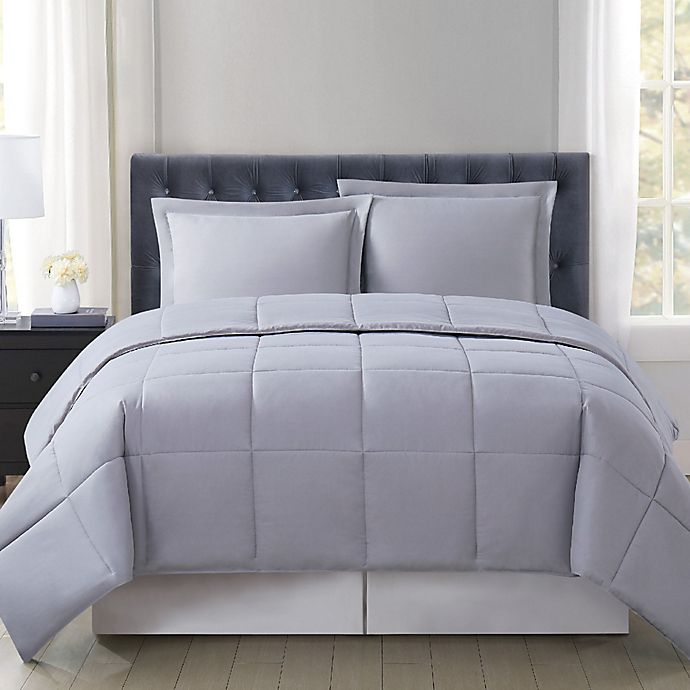 Alternate image 1 for Truly Soft® Everyday Solid Reversible Comforter Set