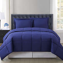 Truly Soft® Everyday Solid Reversible 3-Piece Full/Queen Comforter Set in Navy