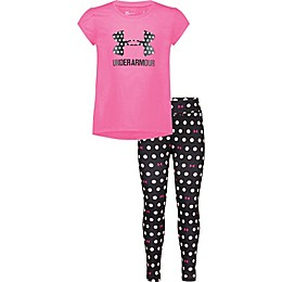Under Amour® 2-Piece Shirt and Leggings Set in Pink Dot