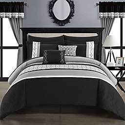 Chic Home Katrein 20-Piece Queen Comforter Set in Black