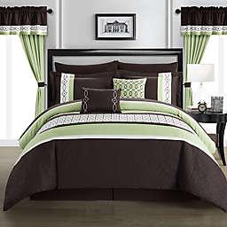 Chic Home Katrein 20-Piece King Comforter Set in Green
