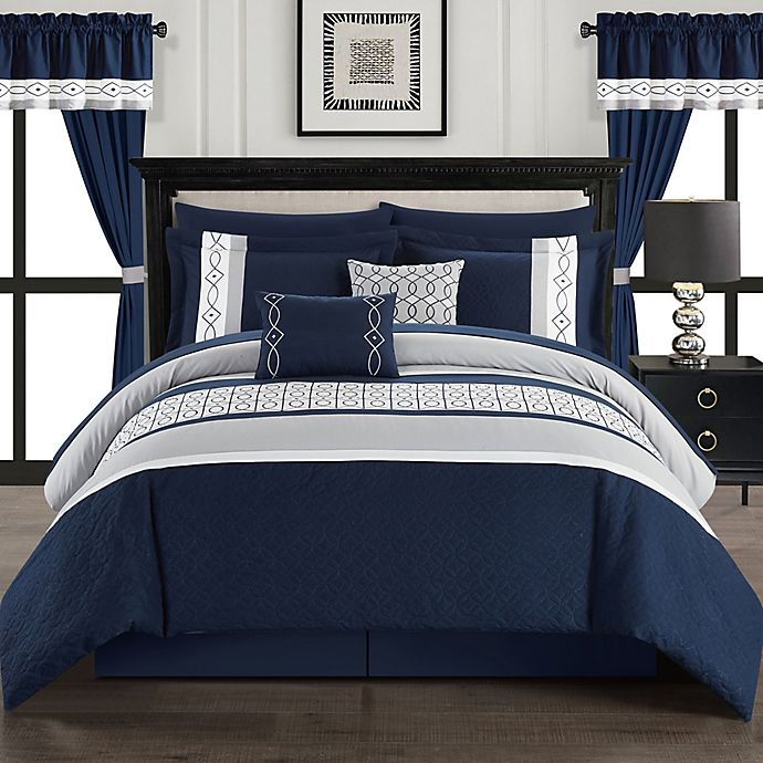 Alternate image 1 for Chic Home Katrein 20-Piece Comforter Set