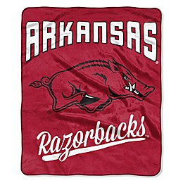 University of Arkansas Raschel Throw Blanket