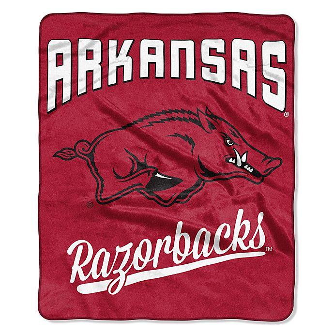 Alternate image 1 for University of Arkansas Raschel Throw Blanket