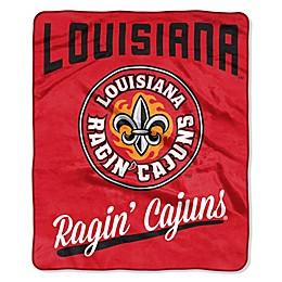 University of Louisiana-Lafayette Raschel Throw Blanket