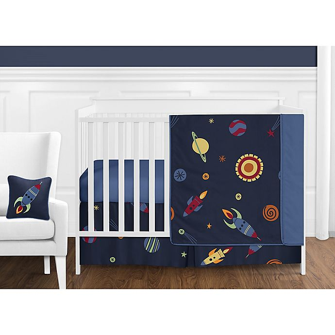 Alternate image 1 for Sweet Jojo Designs Space Galaxy 11-Piece Crib Bedding Set