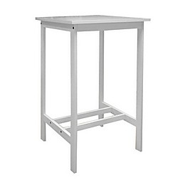 Vifah Bradley Patio Bar Table in White
