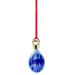 Royal Copenhagen Meeting in the Paddock 3.5-Inch Christmas Ornament in Blue
