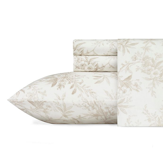 Alternate image 1 for Laura Ashley® Faye Toile Flannel Sheet Set