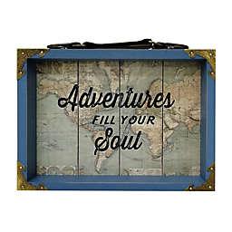 Sweet Bird & Co. Adventure Awaits I 9.45-Inch x 7.5-Inch Suitcase Photo Frame