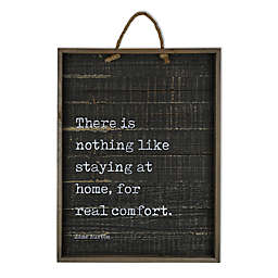 There Is Nothing 21-Inch  18-Inch Wood Tray Wall Art in Black