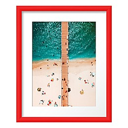 PTM Images Pier View 17.5-Inch x 21.5-Inch Framed Print Wall Art