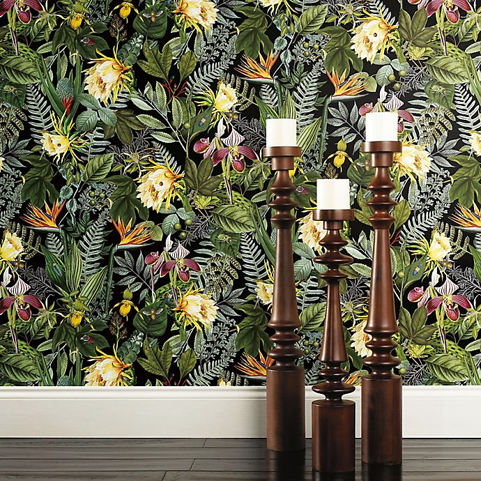 Roommates Tropical Flowers Vinyl Peel Stick Wallpaper Bed Bath Beyond