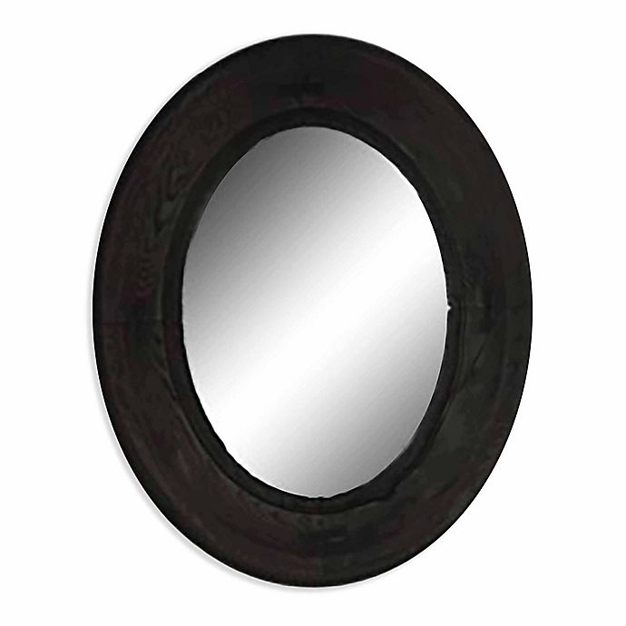 Alternate image 1 for PTM Images Stately 22.13-Inch x 18.13-Inch Oval Wall Mirror in Natural Wood