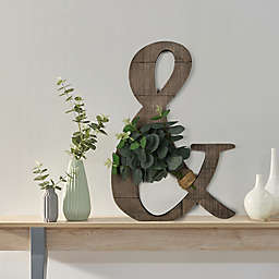 Ampersand with Greenery 13-Inch x 18.5-Inch Wall Art