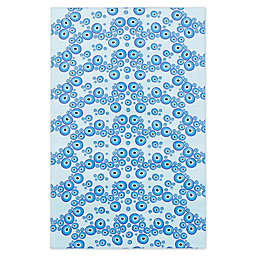 ECARPETGALLERY Lana 4'7 x 7'3 Area Rug in Light Blue