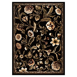 Home Dynamix Optimum Amell 4' x 5' Area Rug in Black