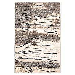 ECARPETGALLERY Timber Area Rug in Dark Grey/Ivory