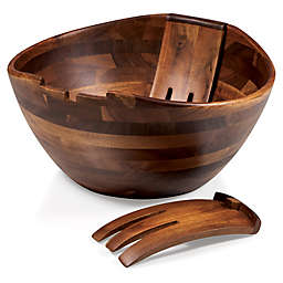 Legacy Heritage Collection by Fabio Viviani Mescolare 3-Piece Acacia Salad Bowl and Mixing Claws Set