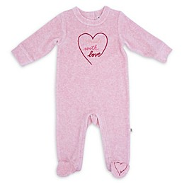 "ED Ellen DeGeneres ""Made with Love"" Velour Footie in Pink"