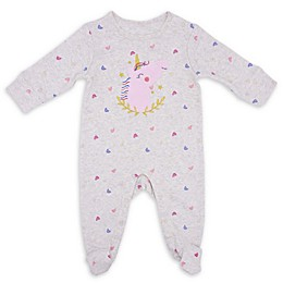 Sterling Baby Chenille Unicorn Footie in Grey
