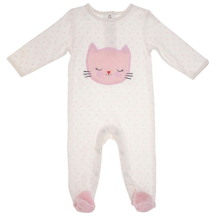 Alternate image 1 for Sterling Baby Fuzzy Bear Footie in Pink