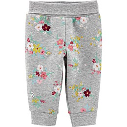 carter's® Floral Fleece Pant in Grey