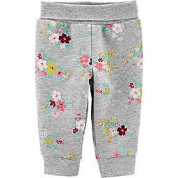 carter's® Floral Fleece Pant in Grey