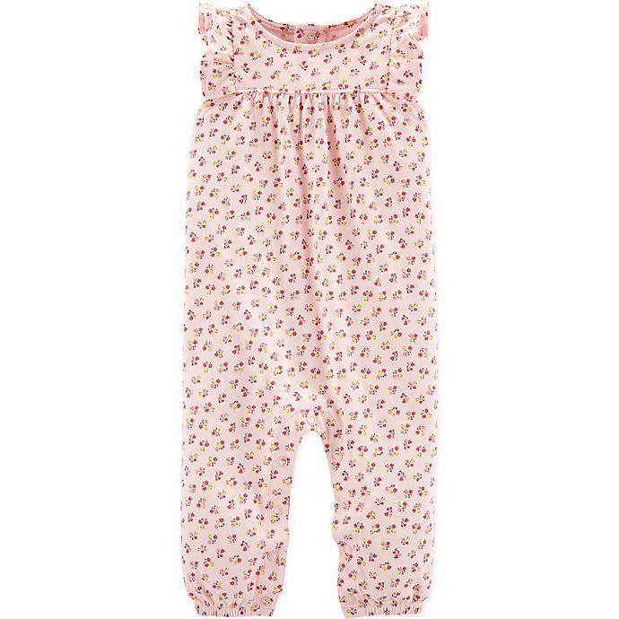 Alternate image 1 for carter's® Floral Romper in Pink