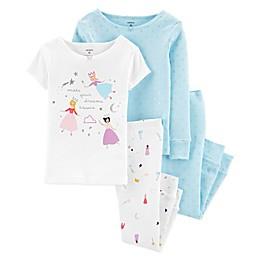 carter's® 4-Piece Princess Pajama Top and Pant Set in Blue