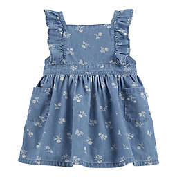 OshKosh B'gosh® 2-Piece Floral Chambray Pinafore and Diaper Cover Set