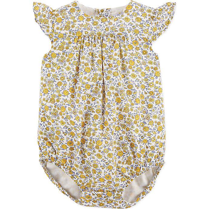 Alternate image 1 for OshKosh B'gosh® Ditzy Floral Bodysuit in Yellow