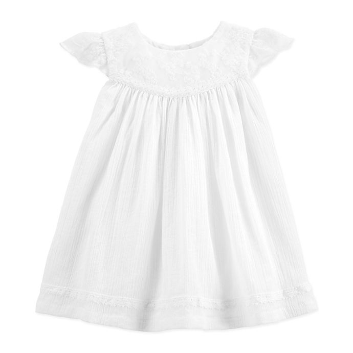 Alternate image 1 for OshKosh B'gosh® Flutter Dress in White