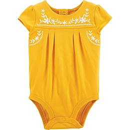 OshKosh B'gosh® Sunflower Short Sleeve Bodysuit in Yellow