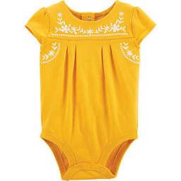 OshKosh B'gosh® Sunflower Short Sleeve Bodysuit in Yellow