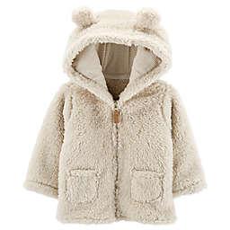 carter's® Hooded Sherpa Cardigan in Beige