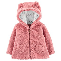 carter's® Sherpa Hooded Jacket in Pink