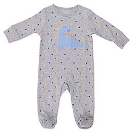 Sterling Baby Chenille Dino Footie in Grey
