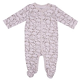 Sterling Baby Allover Fox Footie in Grey