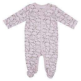 Sterling Baby Allover Fox Footie in Grey