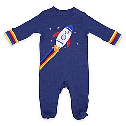 Sterling Baby Rocket Trim Footie in Navy