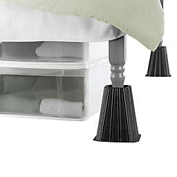 SALT™ Extra Tall Bed Lifts in Black (Set of 4)