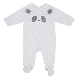 Sterling Baby Plush Panda Footie in White