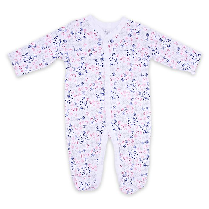 Alternate image 1 for Sterling Baby Floral Bird Footie in White