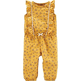 carter's® Ruffle Floral Romper in Yellow